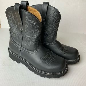Ariat Fatbaby Western Black Boots Leather #14788